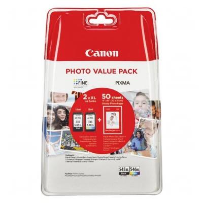 Canon originálna cartridge PG-545 XL/CL-546 XL + 50x GP-501, black/color, 8286B006, Canon Pixma MG2450, 2555, MX495, Promo pack