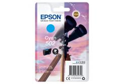 Epson originálna cartridge C13T02V24020, 502, T02V240, cyan, 165 str., 3.3ml, Epson XP-5100, XP-5105, WF-2880dwf, WF2865dwf