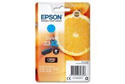 Epson originálna cartridge C13T33624012, T33XL, cyan, 8,9ml, Epson Expression Home a Premium XP-530,630,635,830