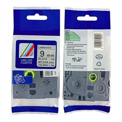 Kompatibilná páska s Brother TZ-M921 / TZe-M921, 9mm x 8m, čierna tlač / strieborný podklad