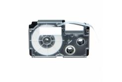 Kompatibilná páska s Casio R7YW 12mm x 2,5m smršťovací čierny tisk / žltý podklad