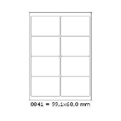 Samolepiace etikety 99 x 68 mm, 8 etikiet, A4, 100 listov