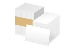 Zebra 104523-215 PVC 0,38 (15mil) karty pro ZXP/ZC , balení 500ks karet na potisk, bílá barva