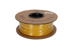 Označovacia oválna PVC bužírka, PO profil, BF-35, 3,5 mm, 200 m, žltá