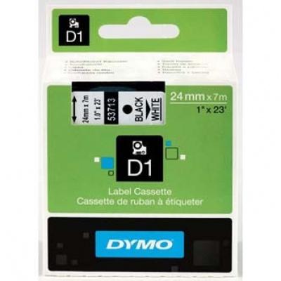Dymo D1 53713, S0720930, 24mm x 7m čierna tlač / biely podklad, originálna páska