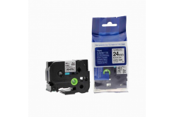 Kompatibilná páska s Brother TZ-FX251/TZe-FX251, 24mm x 8m, flexi, čierna tlač/biely podklad