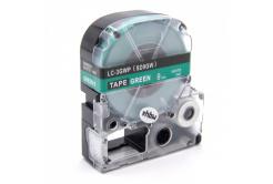 Epson LC-SD9GW, 9mm x 8m, bílý tisk / zelený podklad, kompatibilní páska