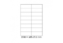 Samolepiace etikety 105 x 37 mm, 16 etikiet, A4, 100 listov