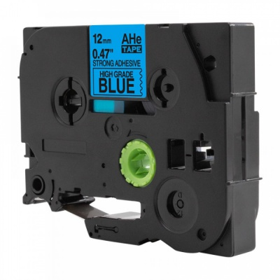 Kompatibilná páska s Brother TZ-S531 / TZe-S531, 12mm x 8m, extr.adh. čierna tlač / modrý podklad