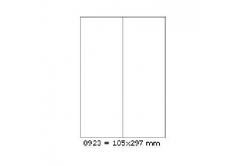 Samolepiace etikety 105 x 297 mm, 2 etikiety, A4, 100 listov
