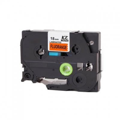 Kompatibilná páska s Brother TZ-B41/TZe-B41, signálne 18mm x 8m, čierna tlač/oranžový podklad