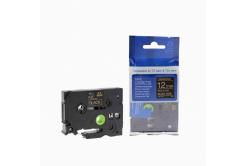 Kompatibilná páska s Brother TZ-334 / TZe-334, 12mm x 8m, zlatá tlač / čierny podklad