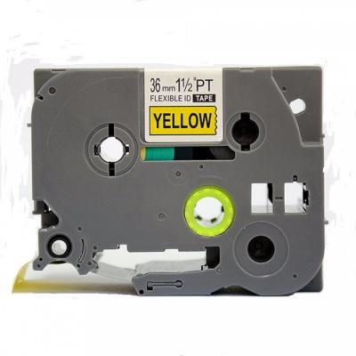 Kompatibilná páska s Brother TZ-FX661/TZe-FX661 36mm x 8m, flexi, čierny tisk/žltý podklad