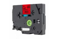 Kompatibilná páska s Brother TZ-FX421 / TZe-FX421, 9mm x 8m, flexi, čierna tlač / červený podklad