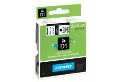 Dymo D1 45013, S0720530, 12mm x 7m čierna tlač / biely podklad, originálna páska