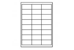 Samolepiace etikety 64,6 x 33,8 mm, 24 etikiet, A4, 100 listov
