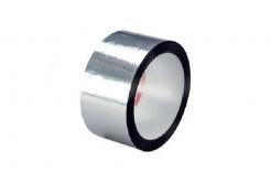 3M 850 S Polyesterová lepicí páska, stříbrná, 50 mm x 66 m