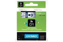 Dymo D1 45011, S0720510, 12mm x 7m modrá tlač / priehľadný podklad, originálna páska
