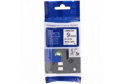 Kompatibilná páska s Brother TZ-FX223 / TZe-FX223, 9mm x 8m, flexi, modra tlač / biely podklad