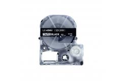 Epson LC-SD12KW, 12mm x 8m, bílý tisk / černý podklad, kompatibilní páska