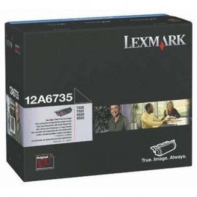 Lexmark 12A6735 čierný (black) originálny toner