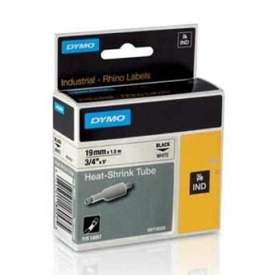 Dymo Rhino 18057, S0718330, 19mm x 1,5m čierna tlač / biely podklad, originálná páska