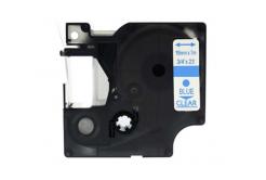 Kompatibilná páska s Dymo 45801, 19mm x 7m, modrá tlač / priehľadný podklad