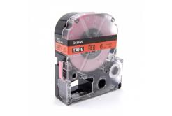 Epson LK-SC6RW, 6mm x 9m, černý tisk / červený podklad, kompatibilní páska
