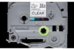 Brother TZ-131S / TZe-131S, 12mm x 4m, čierna tlač / priehľadný podklad, originálna páska