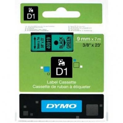 Dymo D1 40919, S0720740, 9mm x 7m čierna tlač / zelený podklad, originálna páska