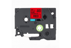 Kompatibilná páska s Brother TZ-FX451 / TZe-FX451, 24mm x 8m, flexi, čierna tlač / červený podklad