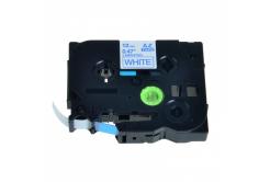 Kompatibilná páska s Brother TZ-233 / TZe-233, 12mm x 8m, modrá tlač / biely podklad