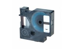 Kompatibilná páska s Dymo 40922, 9mm x 7m, čierny tisk / strieborný podklad