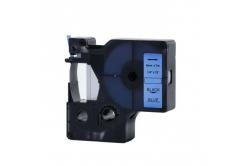 Kompatibilná páska s Dymo 43616, 6mm x 7m, čierny tisk / modrý podklad