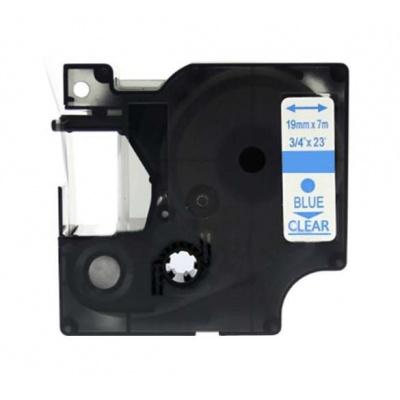 Kompatibilná páska s Dymo 53714, 24mm x 7m, modrá tlač / biely podklad