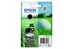 Epson originálna cartridge C13T34714010, T347140, black, 16.3ml, Epson WF-3720DWF, 3725DWF