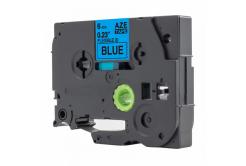 Kompatibilná páska s Brother TZ-FX511 / TZe-FX511, 6mm x 8m, flexi, čierna tlač / modrý podklad