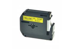 Kompatibilná páska s Brother MK-621, 9mm x 8m, čierna tlač / žltý podklad
