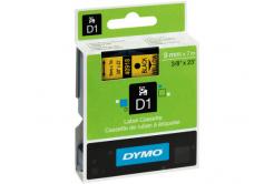 Dymo D1 40918, S0720730, 9 mm x 7 m, čierna tlač / žltý podklad, originálna páska