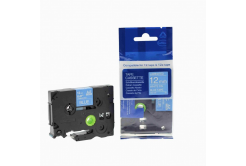 Kompatibilná páska s Brother TZ-535 / TZe-535, 12mm x 8m, biela tlač / modrý podklad