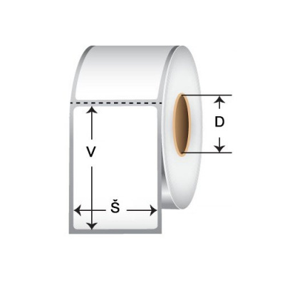 Samolepicí PP (polypropylen) etikety, 69x48mm, 1500ks, pro TTR, žluté, role