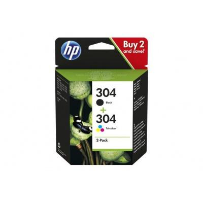 HP originálna cartridge multipack 3JB05AE, HP 304, CMYK, 100CMY-120K str., HP Deskjet 3720, 3721, 3722, 3723, 3724, 3725, 3755