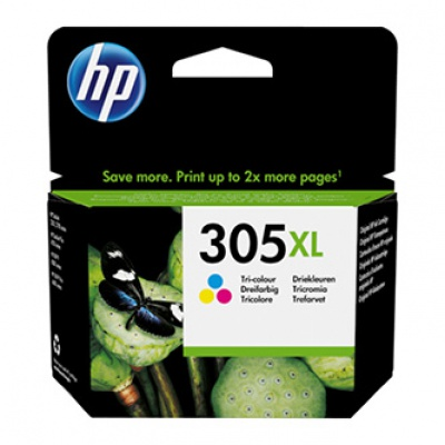 HP originální ink 3YM63AE, HP 305XL, Tri-colour, High Yield, HP
