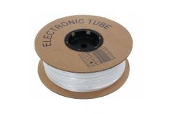Popisovací PVC bužírka kruhová 3,6mm, UL, bílá, 100m