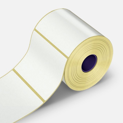 Samolepiace etikety 40x80 mm, 500 ks, papierové pre TTR, role