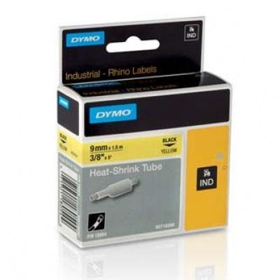 Dymo Rhino 18054, S0718290, 9mm x 1,5m čierna tlač / žltý podklad, originálna páska