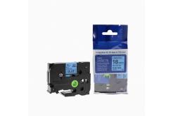 Kompatibilná páska s Brother TZ-541 / TZe-541, 18mm x 8m, čierna tlač / modrý podklad