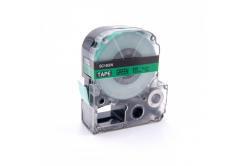 Epson LC-SC18GW, 18mm x 8m, černý tisk / zelený podklad, kompatibilní páska