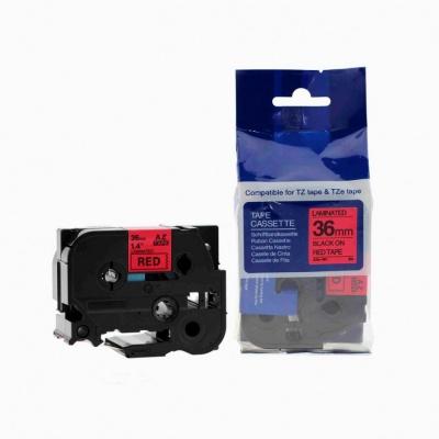 Kompatibilná páska s Brother TZ-461 / TZe-461, 36mm x 8m, čierna tlač / červený podklad