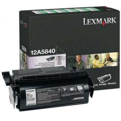 Lexmark 12A5840 čierný (black) originálny toner